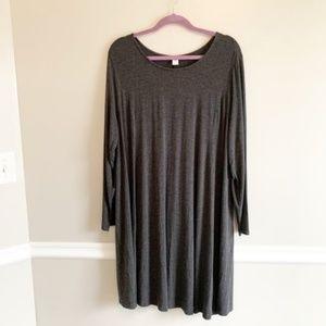Gray Long Sleeved Swing Dress (Size 2X)